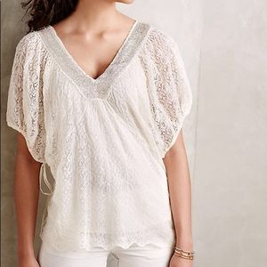 Anthropologie Knitted & Knotted Cille Boho Top